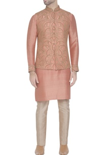 salmon-pink-embroidered-waistcoat