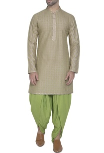 grey-silk-embroidered-kurta