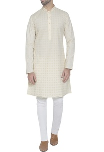 light-yellow-embroidered-kurta