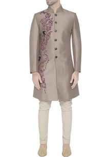 grey-silk-applique-sherwani