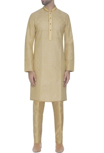 light-yellow-silk-kurta