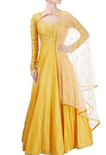 yellow-anarkali-set-with-gota-patti