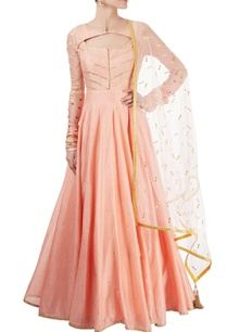 peach-anarkali-set-with-gota-patti
