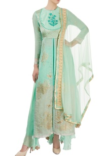 aqua-green-embroidered-palazzo-set-with-hand-painting
