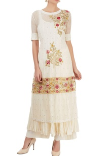 white-thread-embroidered-kurta-set