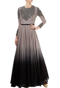 grey-black-embroidered-gown