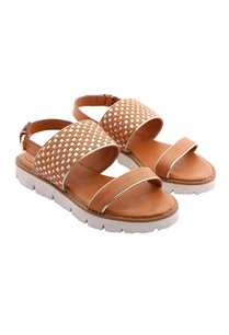 light-brown-gold-woven-strap-sandals