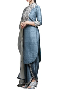 rustic-blue-embroidered-kurta-set