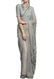 ivory-beige-sari-with-light-green-blouse