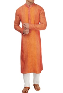 red-thread-work-kurta-set