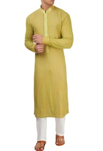 green-thread-work-kurta-set