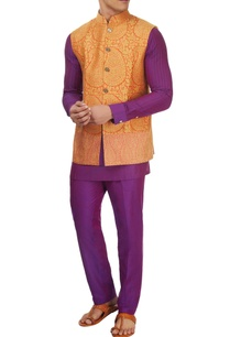 purple-kurta-set