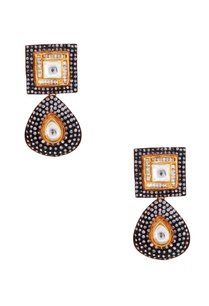 gold-black-earrings-with-zircons