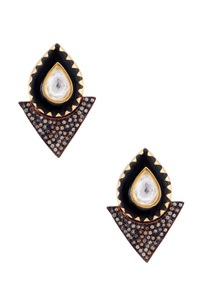 black-earrings-with-enamel-work