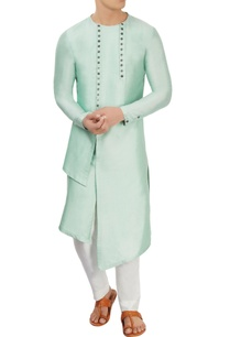 mint-green-asymmetric-long-kurta