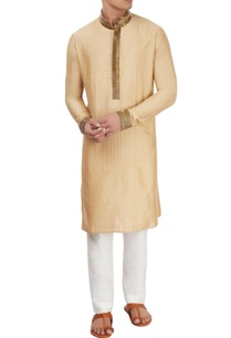 beige-kurta-with-antique-pipework