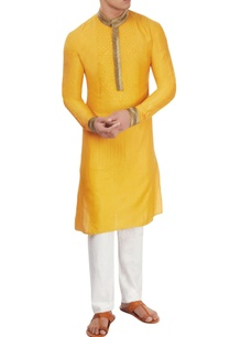 mango-yellow-pipework-kurta