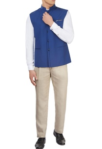 cobalt-blue-nehru-jacket