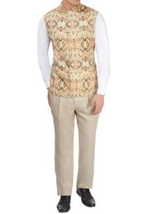 beige-printed-nehru-jacket