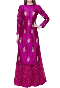 pink-lehenga-set-with-kurta