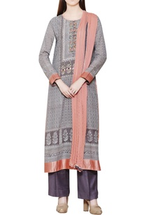 grey-block-printed-kurta-set