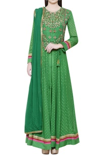 emerald-green-anarkali-set-with-zardozi-yoke