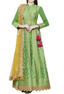 emerald-green-embroidered-anarkali-set