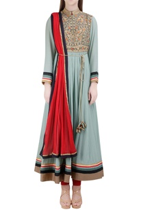 light-blue-red-ribbon-embroidered-anarkali-set
