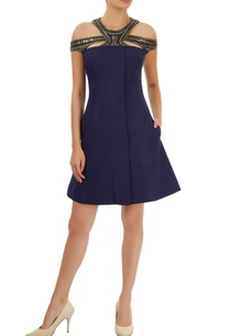navy-blue-dress-with-cutout-neckline