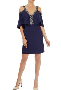navy-blue-cold-shoulder-dress