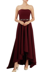 wine-red-asymmetric-gown