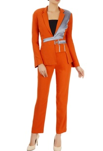 orange-pant-suit-set