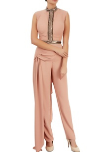 peach-crop-top-trousers-with-drape