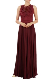 wine-red-top-pleated-palazzos