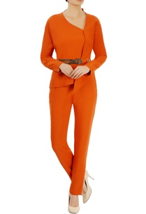 orange-asymmetric-top-trousers