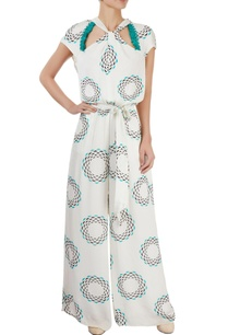 white-printed-jumpsuit
