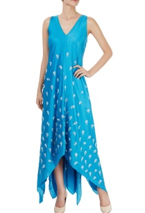 cerulean-blue-asymmetric-maxi-dress