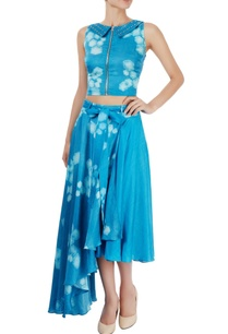 blue-printed-crop-top-draped-culottes