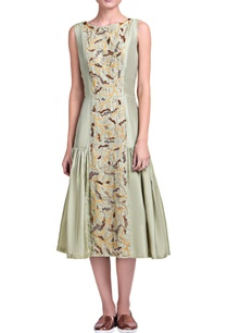 light-pista-green-embroidered-dress