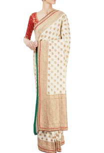 red-white-sari-with-gold-work