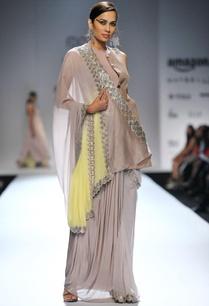 silver-sari-with-waistcoat-choli