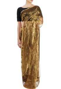 gold-bronze-metallic-sari