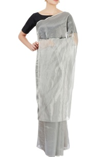 silver-striped-zari-sari