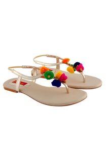 off-white-sandals-with-colorful-pom-poms