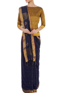 navy-blue-sari-with-motif-details