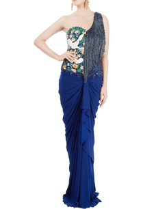navy-blue-draped-gown-with-sequin-tassels