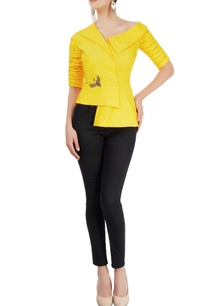 yellow-top-with-asymmetric-neckline