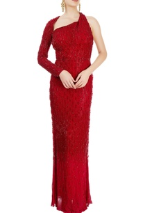 red-straight-fit-gown