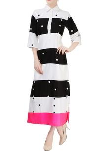 black-white-shirt-dress