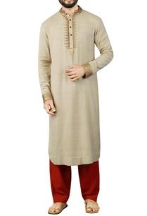 cream-kurta-with-maroon-salwar